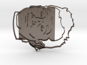 Bill Murray Cookie Cutter in Polished Bronzed Silver Steel
