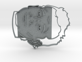 Bill Murray Cookie Cutter in Polished Metallic Plastic