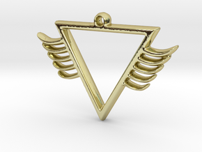 TIII WINGS in 18k Gold Plated Brass