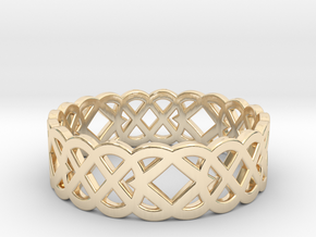 Size 10 Knot C4 in 14k Gold Plated Brass