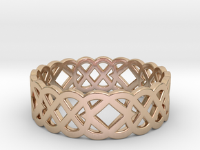 Size 12 Knot C4 in 14k Rose Gold Plated Brass