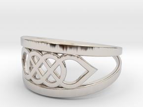 Size 9 Knot C6 in Platinum