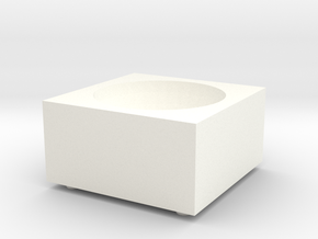 Porcelain Salt Cellar in White Processed Versatile Plastic