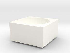Porcelain Salt Cellar in White Processed Versatile Plastic