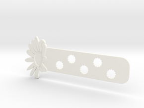 Daisy Bookmark in White Processed Versatile Plastic