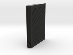 Servo cover Radiator in Black Natural Versatile Plastic