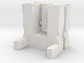 Defensor Add-on in White Natural Versatile Plastic