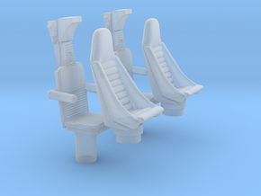 MILLENNIUM BANDAY 1/144 COCKPIT SEATS in Frosted Ultra Detail