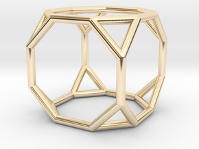 0271 Truncated Cube E (a=1cm) #001 in 14K Yellow Gold