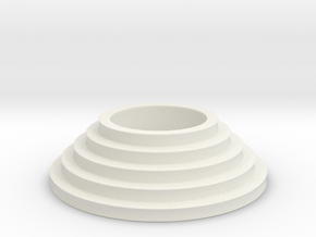 Tealight stairs in White Natural Versatile Plastic
