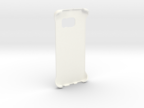 Customizable Samsung S6 Edge case in White Strong & Flexible Polished