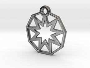 STAR9 in Fine Detail Polished Silver