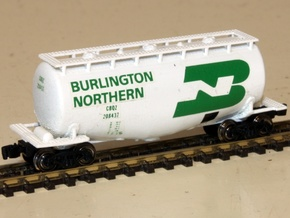 Whale Belly Tank Car - Zscale in Smooth Fine Detail Plastic