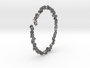 Bracelet of Cubes No.2 in Polished Nickel Steel
