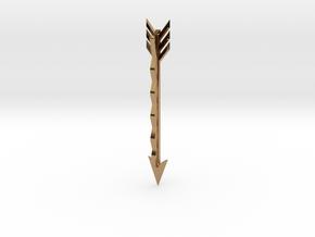 Arrow Bobby Pin in Polished Brass
