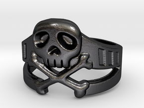 Space Captain Harlock | Ring Size 9 in Polished and Bronzed Black Steel: 9 / 59