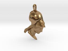 Athena of Velletri, pendant in Natural Brass