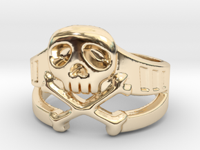 Space Captain Harlock | Ring Size 8 in 14k Gold Plated Brass: 8 / 56.75