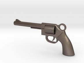 REVOLVER - GUN Pendant in Stainless Steel