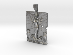 Queen of the Night, Ishtar pendant in Natural Silver