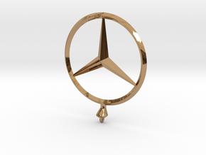 Mercedes Benz Star Ø 75mm  in Polished Brass