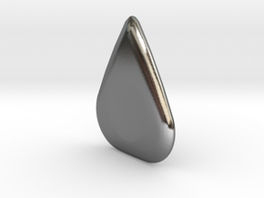 Ergonomic Guitar Pick in Polished Silver