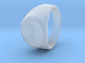 Signet Ring Deer Logo 19mm men in Smooth Fine Detail Plastic