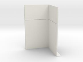 Corner Wall; Inside in White Natural Versatile Plastic