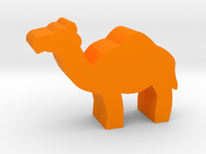 Game Piece, Camel in Orange Strong & Flexible Polished