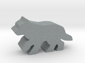 Game Piece, Wolf, running in Polished Metallic Plastic