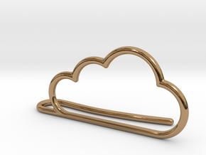 Cloud tie bar in Polished Brass