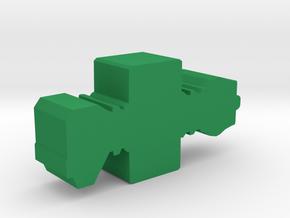 Game Piece, Earth Union Cruiser in Green Processed Versatile Plastic