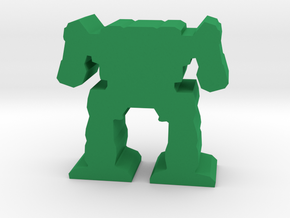 Game Piece, Light Mech in Green Processed Versatile Plastic