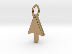 Mouse Cursor Pendant in Polished Brass