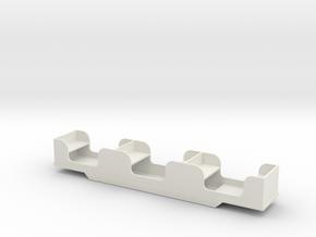 Stapleford Miniature Railway Coach in White Natural Versatile Plastic