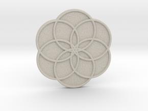Flower of Life in Natural Sandstone