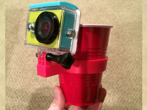 Solo Cup GoPro-style Mount in Red Processed Versatile Plastic