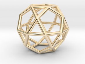 0276 Icosidodecahedron E (a=1cm) #001 in 14K Yellow Gold