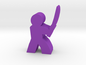 Game Piece, Character with Sword in Purple Processed Versatile Plastic