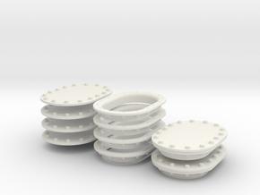 Manhole Covers in White Natural Versatile Plastic