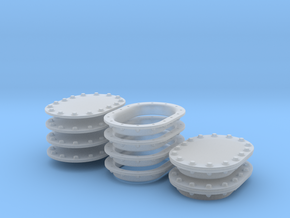 Manhole Covers in Smooth Fine Detail Plastic