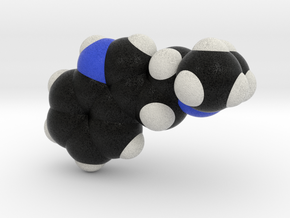 DMT molecule model, Spacefill style in Full Color Sandstone