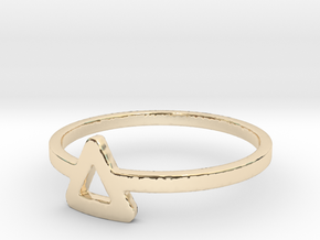 Triangle Ring Ring in 14K Yellow Gold