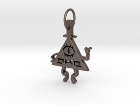 Bill Cipher Pendant in Polished Bronzed Silver Steel