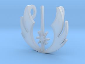 3d Star Wars Jedi Pendant in Smoothest Fine Detail Plastic