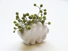 Palm-sized Cloud Vase 1 in Gloss White Porcelain