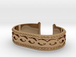 Scroll Bracelet in Polished Brass