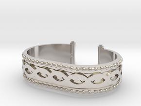 Scroll Bracelet in Rhodium Plated Brass