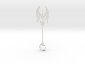 Axe Keychain in White Strong & Flexible