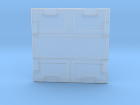 Paneled Wall 002 in Smooth Fine Detail Plastic